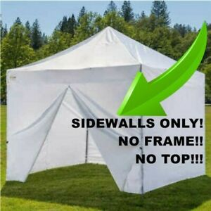 Set of 4 NEW White Sidewall Side Curtains for a 10 foot x 10 foot Canopy Tent!