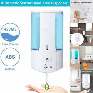 Automatic Liquid Soap/Alcohol Sanitizer Dispenser 450ML Hands-Free Sensor Wall