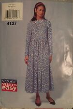 Easy OOP BUTTERICK 4127 MS/Wmns Flared Dress PATTERN 6-8-10/12-14-16/18-20-22 UC