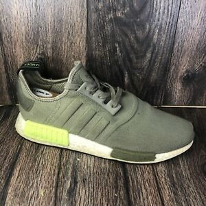 Adidas NMD boost Mens Athletic running shoes US Size 12 ART BD7750 Army Green