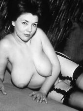 Vtg 1960's Photo Girl Pinup Naughty Topless Huge Hanger Tits Risque #1318