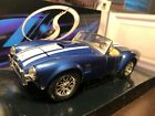 1965 SHELBY COBRA 427 ROADSTER, FORD ENGINE RACING BLUE, 1:24DIECAST MODEL, NEW