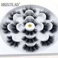 7 Pair Fashion 3D Mink Lashes Natural Long False Eyelashes Volume Fake Lashes
