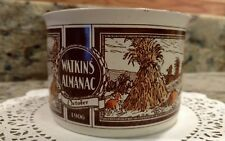 WATKINS ALMANAC *OCTOBER*1906* HANDLED SOUP BOWL