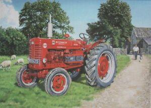 International Harvester Tractor Farm Scene 1960s Blank Birthday Fathers Day Card