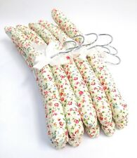 Set of 10 Quality Padded Hangers - Pretty Multi Flower