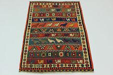 NOMADI PICASSO aspetto kilim fine PEZZO UNICO persiano tappeto Orientale 2,35 x