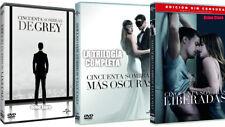 CINCUENTA SOMBRAS DE GREY TRILOGIA DVD MAS OSCURAS LIBERADAS NUEVO ( SIN ABRIR )