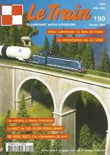 LE TRAIN N°190 VOLVIC-LAPEYROUSE / CC 72000 / VOITURES A BOGIES FRANCAISES
