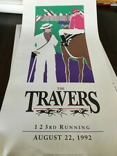 1992 TRAVERS STAKES at SARATOGA RACECOURSE Original  Lithograph