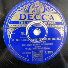 78rpm THE DON SESTA ACCORDION in the little white church on the hill / over sunn