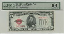 1928 $5 Legal Tender FR#1525 PMG 66 Gem UNC EPQ