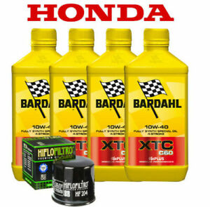Tagliando Honda CB 1000 R dal 2008 al 2016 BARDAHL XTC 10W40 + FILTRO OLIO