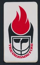 """The Chicago Fire 1974 WFL 5"""" Sticker *S12"""