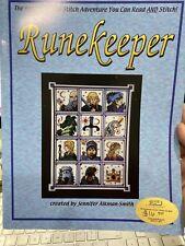 Runekeeper Dragon Dreams Cross Stitch Pattern & Fantasy Story Book Retired