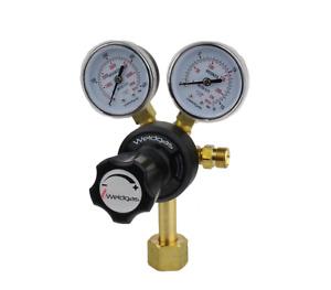 Gas Regulator: Co2 Welding, 2-Gauge Single Stage - 10 Bar (Female Fitting)