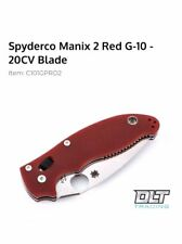 Spyderco Manix 2 DLT Trading Exclusive 20CV Red G10 C101GPRD2 BNIB