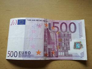 !!! Echter 500Euro Geld Schein X05259271124 Sammlerstück Banknote 2002 TOP !!!