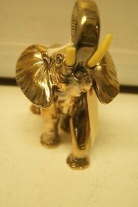 O. Gazzavul  Vintage 1985 Silver plated Elephant with Horns 8""