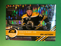 2017-18 OPC Platinum In Action Rookie Pulsar Parallel #IA-21 Charlie McAvoy RC