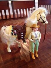 FISHER PRICE Loving Family Dollhouse Horse W Sounds & Cowboy Cowgirl Lot