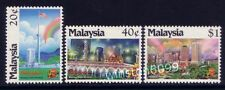 1990 Malaysia Kuala Lumpur, Garden City of Lights 3v Stamps Mint NH