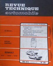 Revue technique RENAULT 15 TL 15 TS 17 TL RTA N° 313 1972 R15 R17