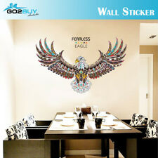 Wall Stickers Removable Fearless Eagle Living Room Decal Picture Art Wallpaper