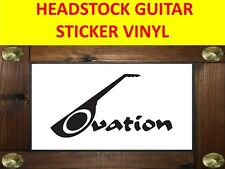 OVATION BLACK STICKER PEGATINA DECAL GUITAR PRODUCT ON SALE UNTIL END OF STOCK