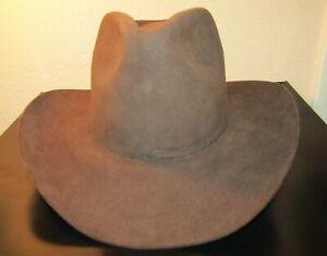 Vintage Resistol Self Conforming Brown Beaver XXXX Western Cowboy Hat size 7