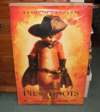 Puss In Boots Antonio Banderas Movie Poster 27 X 40 Orange Background
