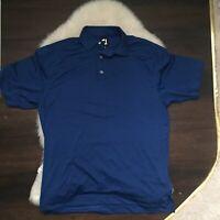 Foot Joy Men's Large Polyester/Spandex Blue Short Sleeve Golf Polo Shirt