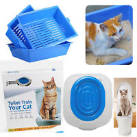 Cat Toilet Training Kit Pet Trainer Puppy Cat Litter Box Pet Cleaning Supply US