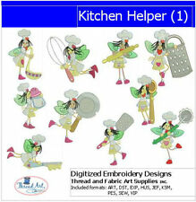 Embroidery Design CD - Kitchen Helper(1) - 10 Designs - 9 Formats - Threadart