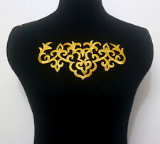 1 Piece Motif Gold Metallic Embroidery Applique/Patch Sew On & Iron-On