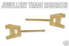 9ct Yellow Gold Earring Settings Jewellery Making 4mm