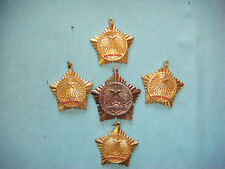 "VIETNAM WAR 5 VC MEDALS "" KHANG CHIEN "" WITHOUT RIBBON"