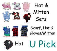 Warm Hat Mittens Set Winter Gloves Beanie Children Baby Kids GIRLS BOYS Youth