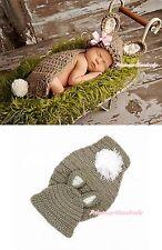 Easter Infant Newborn Baby Khaki Rabbit Bunny Crochet Photo Prop Costume NB-6M