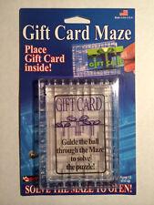 6 Pack -  Gift Card Maze  - Puzzle Brain Teaser  - Fun Challenge Gag Gift Holder