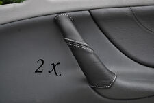WHITE STITCH FITS MERCEDES CLK W208 97-02 2X DOOR HANDLE LEATHER COVERS