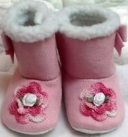 approx 4T-5T Three Sizes: 1011 12 and 34 Handmade Irish Roses Toddler Girls Hot Pink Sequin Faux Fur Slippers