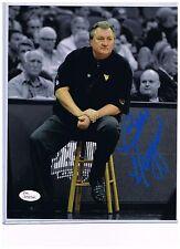 Bob Huggins West Virginia Mountaineers Signed 8x10 #9 JSA  PRESS VIRGINIA