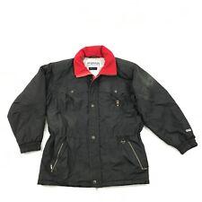 Vintage Fera Vêtements de Ski Veste MENS L 44 Parka Noir Microft Vixy Matelassé