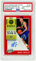 MICHAEL PORTER JR ROOKIE 2018 Contenders Optic RED /149 RC AUTO PSA 10 Signed