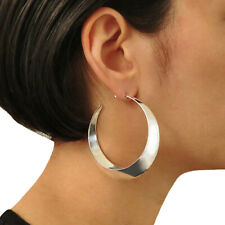 Large Hoops 925 Sterling Silver Circle Earrings British Hallmark Gift Boxed