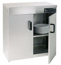 Wärmeschrank beheizter Tellerschrank Elektro Geschirrschrank Tellerwärmer 2Türen