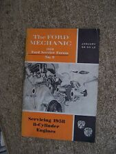 Ford Servicing 1958 Eight ( 8) Cylinder Engines Service Forum Auto Manual  R