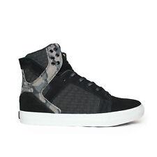Supra Skytop Hightop Sneakers Black Camo White US Mens Size 9