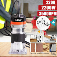 2200W 220V Electric Hand Wood Power Trimmer Router Palm Router Edge Joiners
